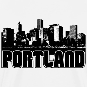 Portland Skyline Hooded Sweatshirt - Men's Premium T-Shirt