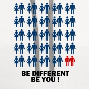 Be different Be you - Contrast Hoodie