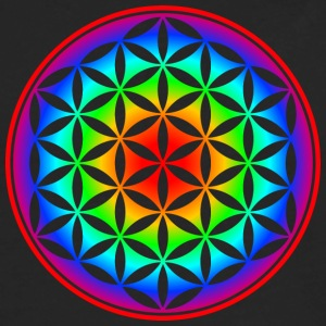 Flower of life, Lotus-Flower, Heart Chakra, Rainbow, energy symbol, healing symbol Women's T-Shirts - Men's Premium Long Sleeve T-Shirt