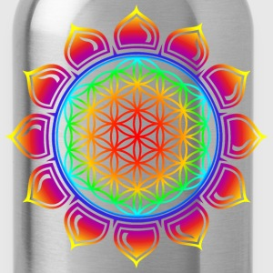 Flower of life, Lotus-Flower, Heart Chakra, Rainbow, energy symbol, healing symbol Women's T-Shirts - Water Bottle