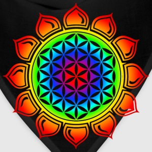 Flower of life, Lotus-Flower, Heart Chakra, Rainbow, energy symbol, healing symbol Women's T-Shirts - Bandana