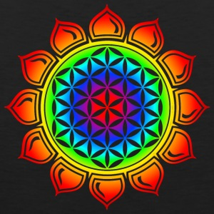 Flower of life, Lotus-Flower, Heart Chakra, Rainbow, energy symbol, healing symbol Women's T-Shirts - Men's Premium Tank