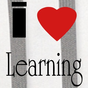 I heart learning - Contrast Hoodie