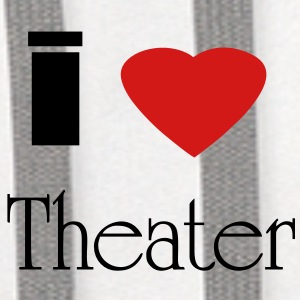 I heart theatre - Contrast Hoodie