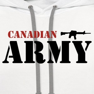 White Canadian Army Men - Contrast Hoodie