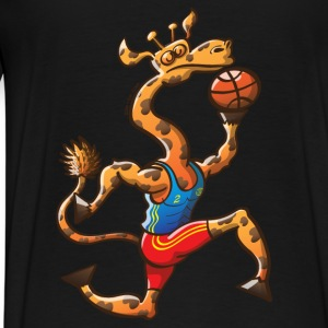 Olympic Basketball Giraffe Hoodies - Men's Premium T-Shirt