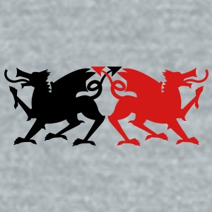 rampant dragons licking emblem solid wicked! Accessories - Unisex Tri-Blend T-Shirt by American Apparel