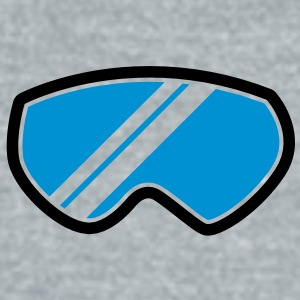 snow goggles WINTER season with reflection Accessories - Unisex Tri-Blend T-Shirt by American Apparel