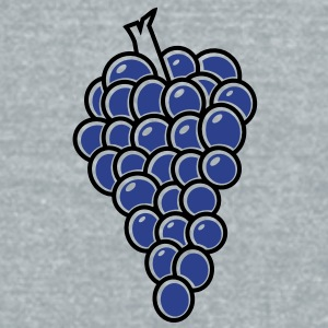 bunch of fruit grapes hanging on a vine wine Accessories - Unisex Tri-Blend T-Shirt by American Apparel