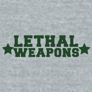my breasts are lethal weapons with stars Accessories - Unisex Tri-Blend T-Shirt by American Apparel