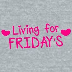 living for fridays with love hearts Accessories - Unisex Tri-Blend T-Shirt by American Apparel