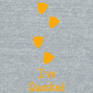 duck prints going up saying I've QUACKED  Accessories - Unisex Tri-Blend T-Shirt by American Apparel