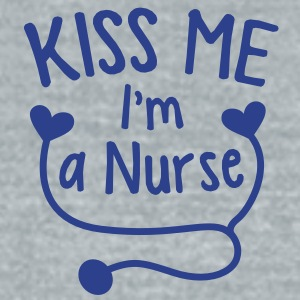 KISS ME I'm a NURSE! with love heart stethoscope Accessories - Unisex Tri-Blend T-Shirt by American Apparel