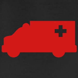 Ambulance simple shape outline with a cross  Accessories - Leggings