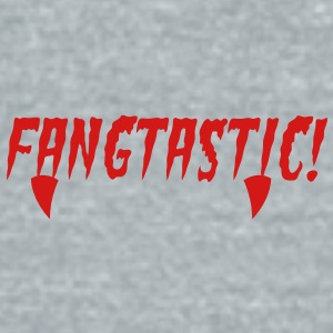 fangtastic type word with fangs in red blood! Accessories - Unisex Tri-Blend T-Shirt by American Apparel