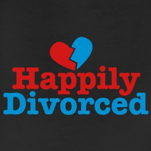 happily divorced with broken love heart Accessories - Leggings