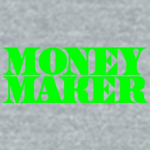 money maker in cash font Accessories - Unisex Tri-Blend T-Shirt by American Apparel