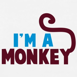 I'm a monkey cute! with tail Accessories - Men's Premium T-Shirt