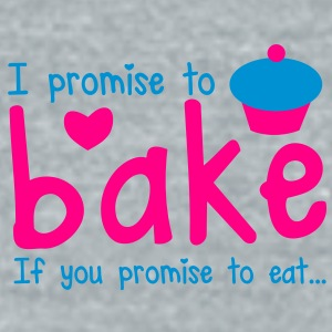 I PROMISE TO BAKE - if you promise to eat! with a cute cupcake Accessories - Unisex Tri-Blend T-Shirt by American Apparel