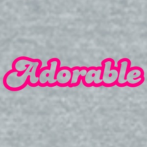 adorable! in cute font Accessories - Unisex Tri-Blend T-Shirt by American Apparel
