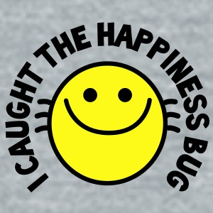 I CAUGHT THE HAPPINESS bug! with cute buggy smiley! Accessories - Unisex Tri-Blend T-Shirt by American Apparel