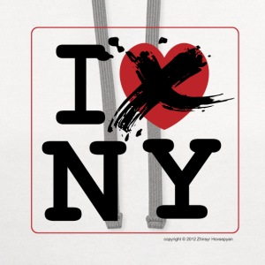 I Don't Love New York, Funny T-Shirt Design - Contrast Hoodie