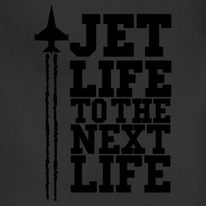JET LIFE TO NEXT LIFE  eps T-Shirts - Adjustable Apron