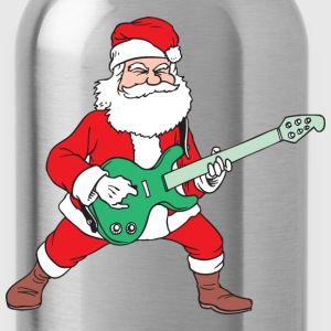 Rock and Roll Santa T-Shirts - Water Bottle