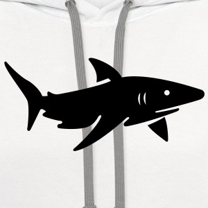 Shark VECTOR T-Shirts - Contrast Hoodie