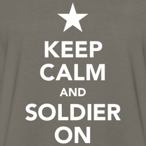 Keep calm and soldier on - Men's Premium Long Sleeve T-Shirt