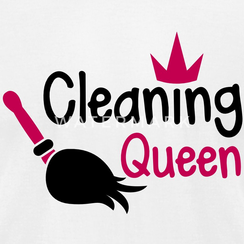 Cleaning QUEEN with a crown and sweeping broom T-Shirts - Men's T-Shirt by American Apparel