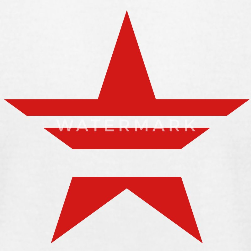 SHARP shape red star stylish stylised  T-Shirts - Men's T-Shirt by American Apparel