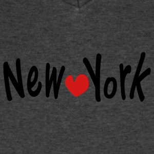 NEW YORK &  heart Women's Flowy Tank Top by Bella - Men's V-Neck T-Shirt by Canvas