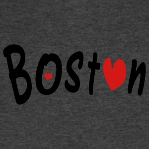 love Boston Women's Flowy Tank Top by Bella - Men's V-Neck T-Shirt by Canvas