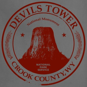 Devils Tower American Apparel Tri-Blend Vintage T-Shirt - Adjustable Apron