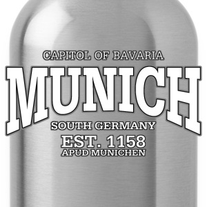 Munich Bavaria Germany (white) - Water Bottle