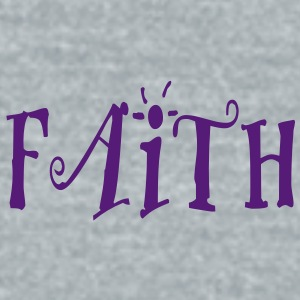 Faith - Unisex Tri-Blend T-Shirt by American Apparel