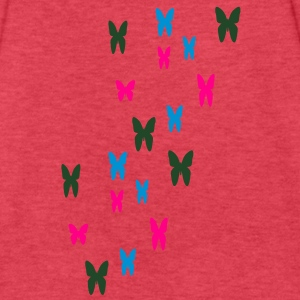 butterflies - Fitted Cotton/Poly T-Shirt by Next Level