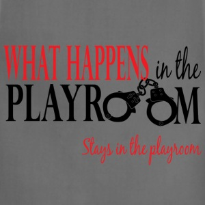 What Happens in the Playroom 2 V Neck - Adjustable Apron