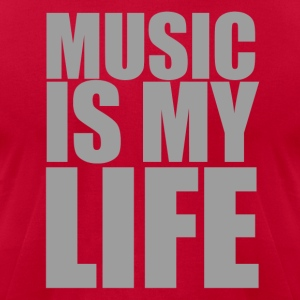 Music Is My Life - Men's T-Shirt by American Apparel