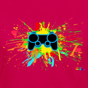 Controller Splatter Hoodies - Women's Premium Long Sleeve T-Shirt