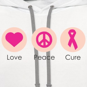 Love Peace Cure T-Shirts - Contrast Hoodie