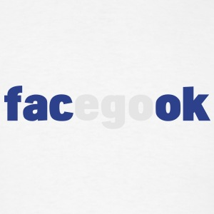 facegook - facebook parody Buttons - Men's T-Shirt