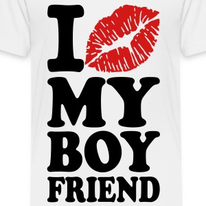 I love my boyfriend Kids' Shirts - Toddler Premium T-Shirt