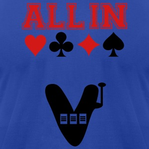 All In Betting Tanks - Men's T-Shirt by American Apparel