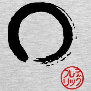 Enso with Hanko - japanese Women's T-Shirts - Men's Premium Tank