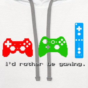 I'd Rather Be Gaming - Contrast Hoodie