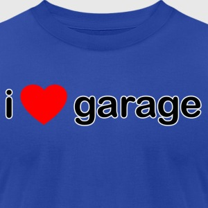 I Love Garage - Men's T-Shirt by American Apparel