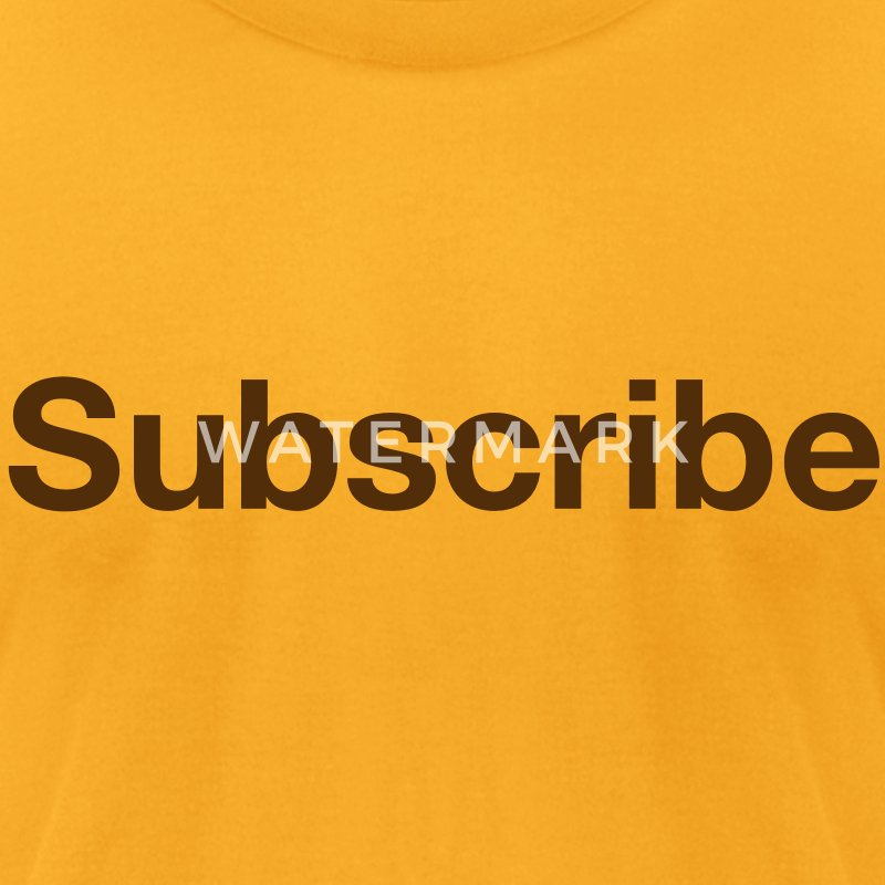 Classic Subscribe T-Shirts - Men's T-Shirt by American Apparel