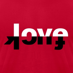 F*ck Love Crewneck - Men's T-Shirt by American Apparel